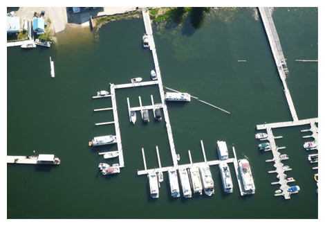 The marina from the air